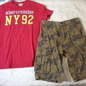 NWOT 12 BOYS ABERCROMBIE Tshirt Shorts BUNDLE LOT